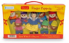 Kids will have hours of fun with this delightful finger puppet set of Snow White and the 7 Dwarfs! #fingerpuppets