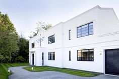 This art deco house built from scratch feature windows made by The Heritage Window Company