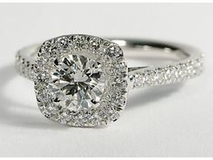 Square Halo Diamond Engagement. THE ONE!! not too square not too round