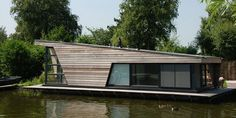 Prefab house / contemporary / two floor / energy-efficient WATERCHALETS JISP Waterstudio.NL