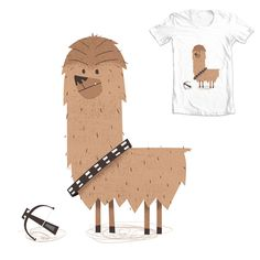 A cute little Star Wars inspired character design Illustration of Chewbacca as an Alpaca. I did this initially because I thought 'Alpaca Chewbacca' rhymed, but it turned out I was just pronouncing it wrong. www.boney.design