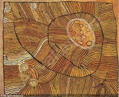 """Marapinti"" Naata Nungurrayi (b 1932) Australian Aboriginal artist, a senior elder of the Kintore women artist movement"