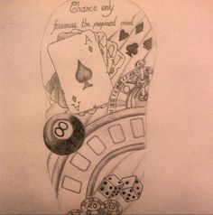 Part of a gamblers sleeve i'm creating