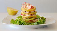 Ensalada de manzana, kiwi y cangrejo - http://www.bezzia.com/ensalada-manzana-kiwi-cangrejo/
