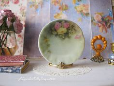 Rose Fields Dollhouse Plate by alavenderdilly on Etsy, $4.25