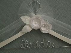 Personalized wedding dress hanger, bridal hanger, bridal shower gift, bride, wedding