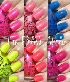 China Glaze Summer 2012 Summer Neons Collection: My Picks!