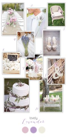Lavender Wedding Inspiration via One Hitched Lane