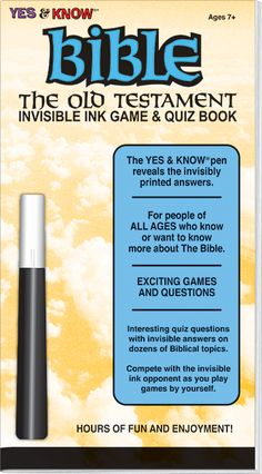 "Invisible Ink: Yes & Know® Bible ""Old Testament"""