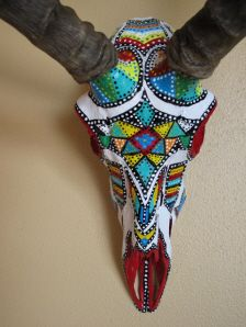 Painted Skulls - she does beautiful work!