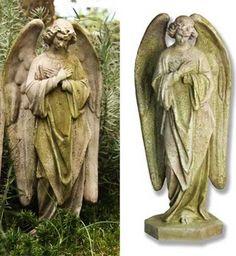 Broken Winged Angel Wall Plaque Outdoor Religious Garden Statue