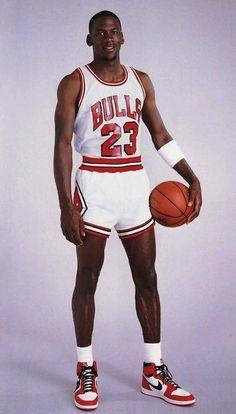 MJ wearing the original Air Jordans 1980s ... Super 70s Sports