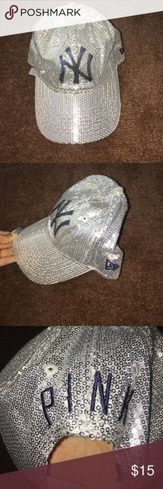 Sequin blinged out MLB New York Yankees hat Used but in good condition PINK Victoria's Secret Accessories Hats