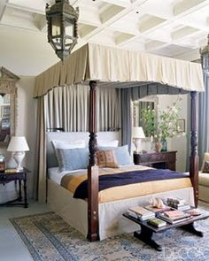 Traditional canopy bed.
