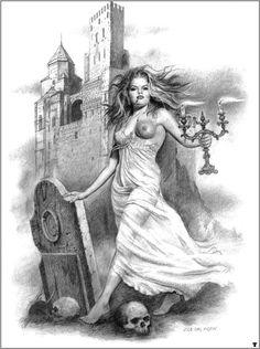 Jim Warren, John Howe, Comics Vintage, Fantasy Art, Statue, Painting, Image, Window, Vampires