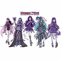 Check out my freaky fabulous collab with @MonsterHigh! I created killer illustrations of the ghouls from their new movie #MonsterHighHaunted . Drop Dead Gore-geous!