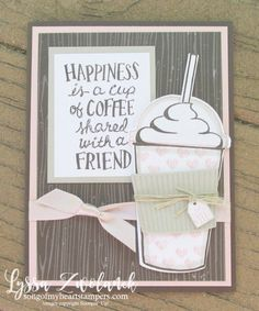 Coffee Cup To Go Cafe Break Time scrapbooking papers DIY iced mocha Stampin Up shop with Lyssa