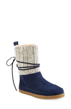 Cozy knit boots for cold days.