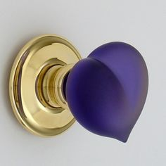Glass heart door knob - (I want a whole case of these...maybe in various colors! - / B.)