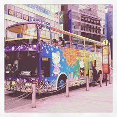 [きてぃー*2012/04/16]    ハローキティバス(ٛ০◦০ٛ⌯)໊       @新宿駅東口