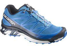 Salomon Wings Pro Mens Trail Running Shoes - Blue/Black