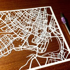Paper cut map of Montreal QC by CUTdesignsrt on Etsy Montreal Qc, Fun Shots, Paper Cutting, Maps, My Etsy Shop, Kids Rugs, Cool Stuff, Design, Kid Friendly Rugs
