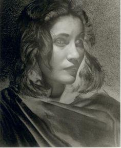 Erwin Blumenfeld - Solarized portrait of a woman.  Annotated Miss Leonardine da Vinci verso, circa 1944 Via Phil et crhi et jade