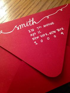 Hand Lettered Christmas Addressed Envelopes by dMPaperCompany