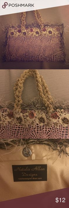 Unique clutch - brand new! Never been used. In brand new condition. Super fun clutch! Purchased from a boutique. See below for color description. Bags Clutches & Wristlets