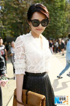 Xu Qing at Valentino show in Paris