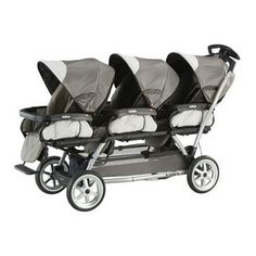 This website has a bunch of recommended triplet strollers on it. This particular one is very pricy though...