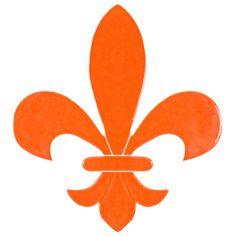 """Fleur de Lis Orange 6"""""""
