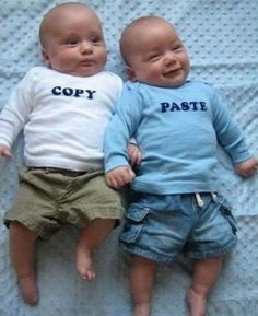 These guys look adorable... if I have twins I am so doing this! :) babychubsclaw
