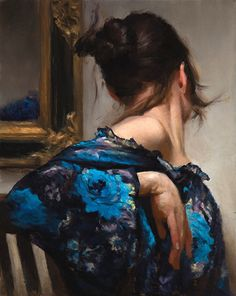 """Mirror"" by Zack Zdrale (b. 1977), oil on canvas"