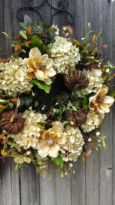 Thanksgiving WreathMagnoliaTwig by TheElegantClutter on Etsy