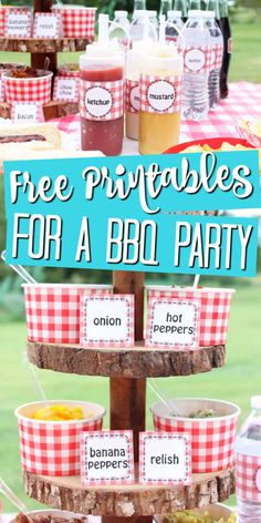 Make your BBQ party even more special with these free printables! Your guests will love these cute additions to your backyard bash! Hot Banana Peppers, Stuffed Banana Peppers, Healthy Toddler Meals, Kids Meals, Toddler Food, Burger Bar Party, Party Food On A Budget, Best Summer Salads, Catering Food Displays