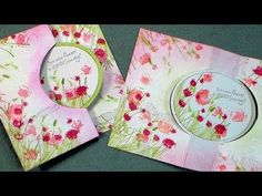How to make a flip/swing card with basic supplies (no dies/templates required!) - YouTube