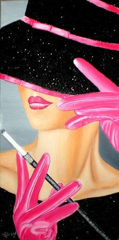 MIRADA OCULTA (acrílico - 30 cm x 60 cm) (Pintura), cm por Carmen G. Art Painting Tools, Acrylic Painting Techniques, Art Pop, Acrylic Painting Canvas, Acrylic Art, Female Art, Fashion Art, Fashion Women, Art Drawings