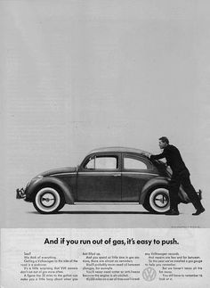 Nomad Art And Design - VW Beetle Advert 1962 - A... Print