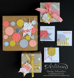 Great gift packaging with the Springtime Hello Simply Created Garland Kit