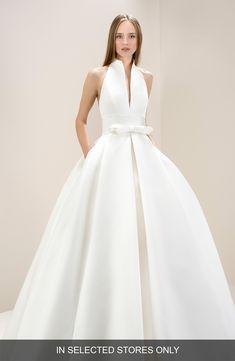 ba3e1ab1ce31 Women's Jesús Peiró Antoinette Halter Satin Ballgown, Size IN STORE ONLY -  Ivory. Jesus PeiroDream Wedding DressesBridal ...