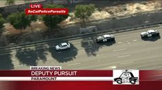 California High Speed Police Chase In Compton Armed Suspect (KCAL)