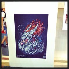 Terence's Artwork Showcased at Noise Singapore 2014 Festival Exhibition #noise Singapore #artwork #showcase #dragon