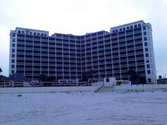 Abandoned Treasure Island Hotel in Daytona Beach Fla. Once was a beautiful place with so much life. Haunted Places, Abandoned Places, Treasure Island Hotel, Daytona Beach Florida, Summer Loving, Skyscraper, Beautiful Places, Louvre, Spaces