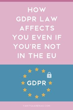 Tips and resources to help you understand how GDPR affects you and what you might need to do moving forward to stay out of trouble General Data Protection Regulation, Privacy Policy, Moving Forward, Law, Reading, Tips, Design, Move Forward, Word Reading