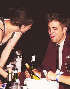 Kristen Stewart and Robert Pattinson at the Eclipse premiere after party