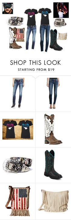 """""""Me and my Best Friend @countrygirl-7"""" by geordon-unicorn ❤ liked on Polyvore featuring Miss Me, Justin Boots, Nocona, M&F Western and country"""