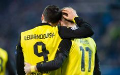 Robert Lewandowski and Marco Reus; Zenit St. Petersburg 2 Borussia Dortmund 4 (25/2/2014)