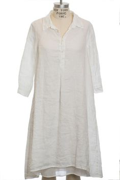 CP Shades Janine in White Linen with Faye Slip