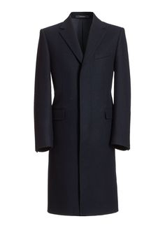 Overcoat Navy Fly-Fronted, Classic Fit